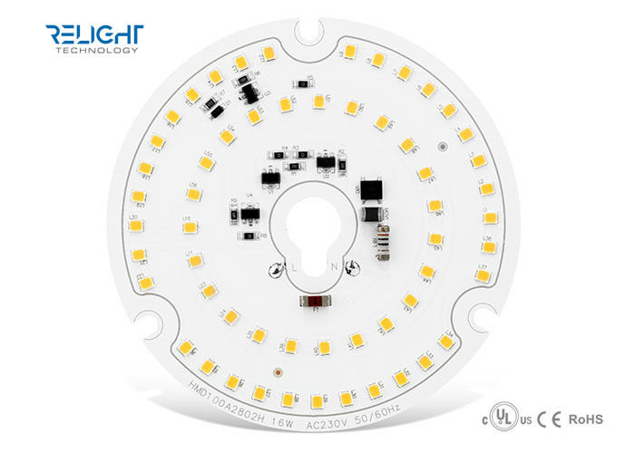 1600LM Efficiency Round AC LED Module Dimmable Φ100mm With 16W 230V